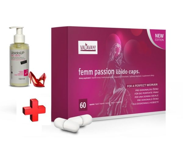 FEMM PASSION LIBIDO 60 KAPSÚL + LOVELY LOVERS LIBIDOUP GEL INNOVATIVE FORMULA 150ML